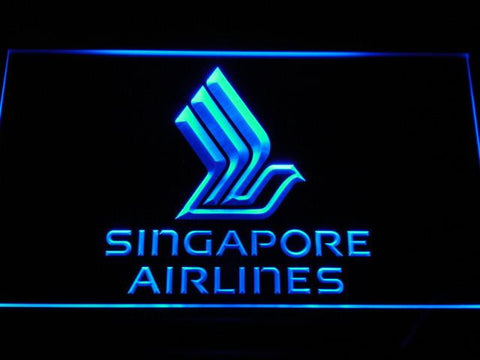 Image of Singapore Airlines LED Neon Sign - Blue - SafeSpecial