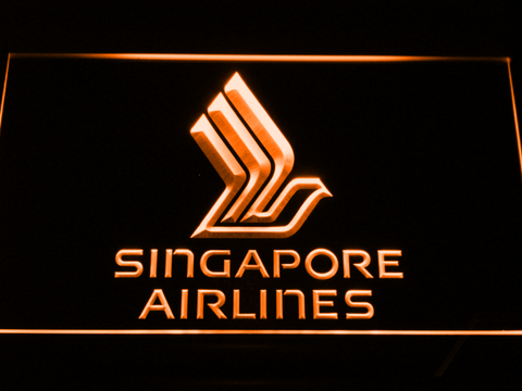 Image of Singapore Airlines LED Neon Sign - Orange - SafeSpecial