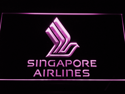 Image of Singapore Airlines LED Neon Sign - Purple - SafeSpecial
