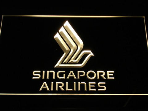 Image of Singapore Airlines LED Neon Sign - Yellow - SafeSpecial