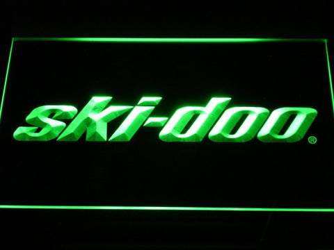 Image of Ski Doo Snowmobiles LED Neon Sign - Green - SafeSpecial