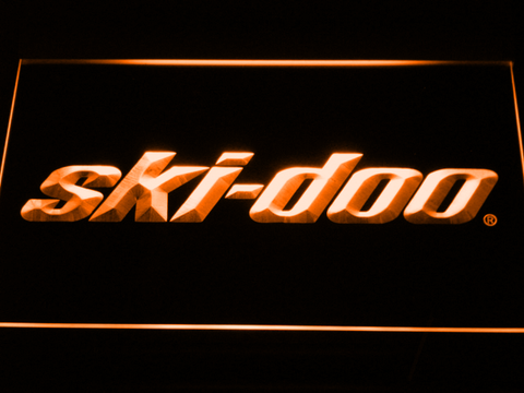 Image of Ski Doo Snowmobiles LED Neon Sign - Orange - SafeSpecial