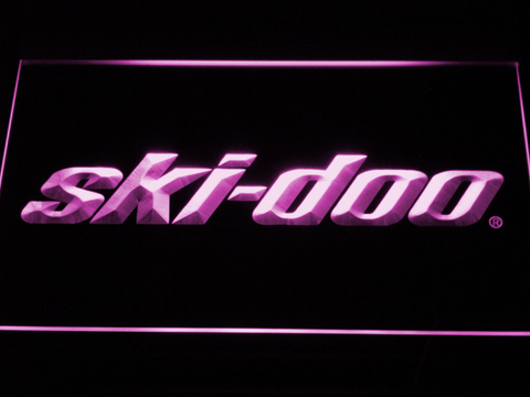 Image of Ski Doo Snowmobiles LED Neon Sign - Purple - SafeSpecial
