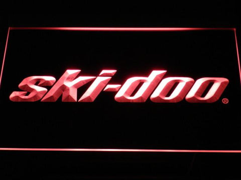 Image of Ski Doo Snowmobiles LED Neon Sign - Red - SafeSpecial