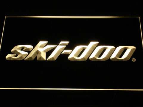 Image of Ski Doo Snowmobiles LED Neon Sign - Yellow - SafeSpecial