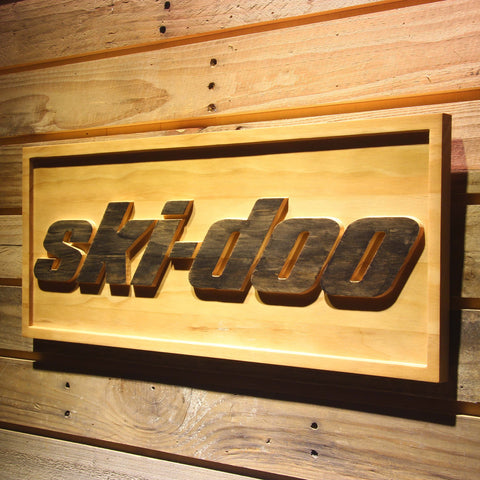 Image of Ski Doo Snowmobiles Wooden Sign - - SafeSpecial