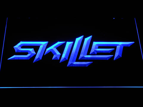 Skillet LED Neon Sign - Blue - SafeSpecial