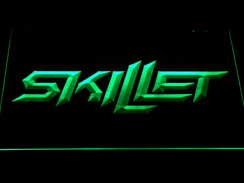 Skillet LED Neon Sign - Green - SafeSpecial