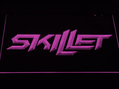 Skillet LED Neon Sign - Purple - SafeSpecial
