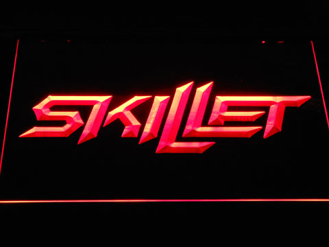 Skillet LED Neon Sign - Red - SafeSpecial