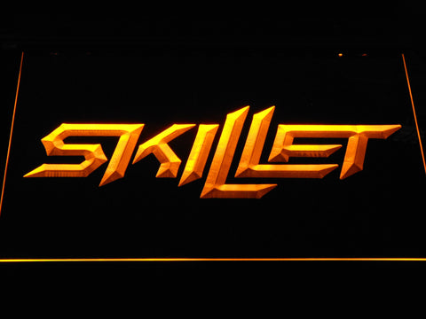 Skillet LED Neon Sign - Yellow - SafeSpecial