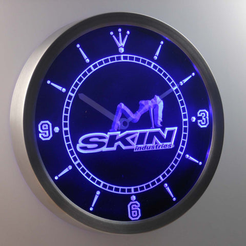 Image of Skin Industries 1 LED Neon Wall Clock - Blue - SafeSpecial