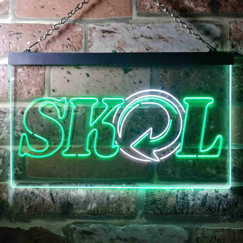Image of Skol Logo 1 Neon-Like LED Sign - Dual Color
