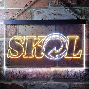 Skol Logo 1 Neon-Like LED Sign - Dual Color