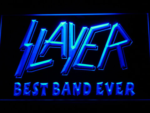 Slayer Best Band Ever LED Neon Sign - Blue - SafeSpecial