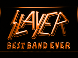 Slayer Best Band Ever LED Neon Sign - Orange - SafeSpecial