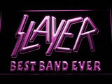 Slayer Best Band Ever LED Neon Sign - Purple - SafeSpecial