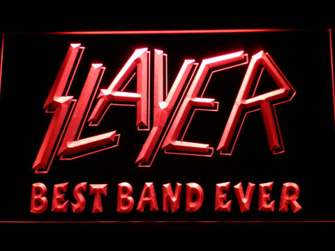 Slayer Best Band Ever LED Neon Sign - Red - SafeSpecial