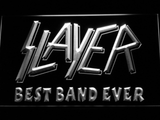 Slayer Best Band Ever LED Neon Sign - White - SafeSpecial