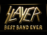 Slayer Best Band Ever LED Neon Sign - Yellow - SafeSpecial