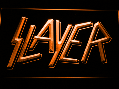 Slayer LED Neon Sign - Orange - SafeSpecial