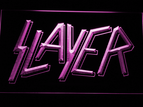 Slayer LED Neon Sign - Purple - SafeSpecial