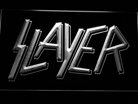 Image of Slayer LED Neon Sign - White - SafeSpecial
