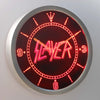Slayer LED Neon Wall Clock - Red - SafeSpecial