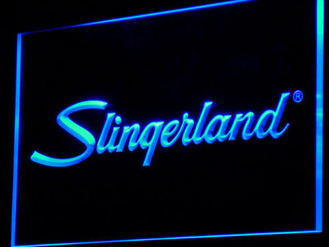 Image of Slingerland LED Neon Sign - Blue - SafeSpecial