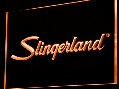 Slingerland LED Neon Sign - Orange - SafeSpecial