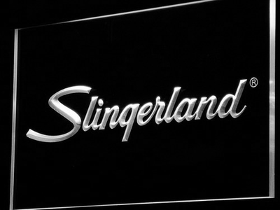 Slingerland LED Neon Sign - White - SafeSpecial
