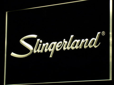 Image of Slingerland LED Neon Sign - Yellow - SafeSpecial