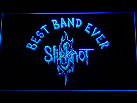 Image of Slipknot Best Band Ever LED Neon Sign - Blue - SafeSpecial