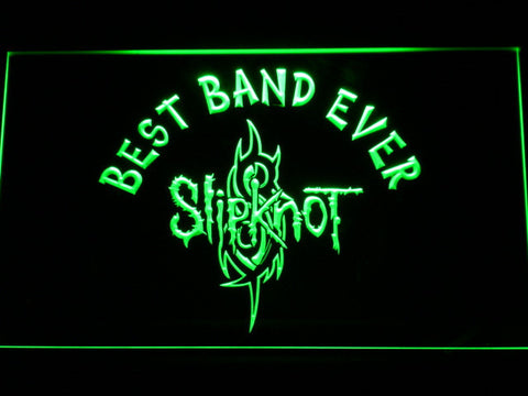Image of Slipknot Best Band Ever LED Neon Sign - Green - SafeSpecial