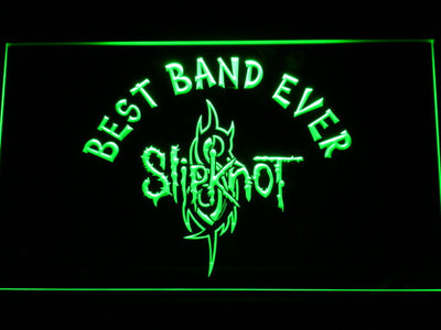 Slipknot Best Band Ever LED Neon Sign - Green - SafeSpecial