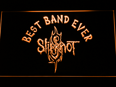 Slipknot Best Band Ever LED Neon Sign - Orange - SafeSpecial