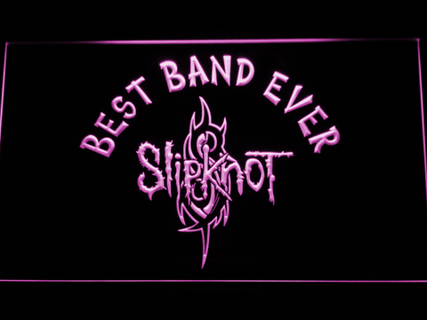 Image of Slipknot Best Band Ever LED Neon Sign - Purple - SafeSpecial