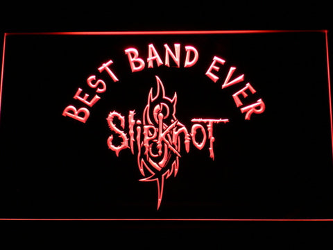 Image of Slipknot Best Band Ever LED Neon Sign - Red - SafeSpecial