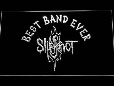 Image of Slipknot Best Band Ever LED Neon Sign - White - SafeSpecial