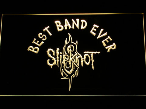 Image of Slipknot Best Band Ever LED Neon Sign - Yellow - SafeSpecial