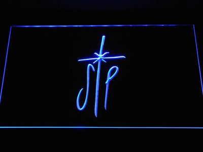 Smashing Pumpkins Cross LED Neon Sign - Blue - SafeSpecial