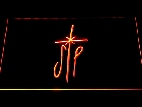 Smashing Pumpkins Cross LED Neon Sign - Orange - SafeSpecial