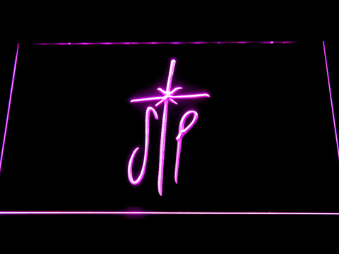 Image of Smashing Pumpkins Cross LED Neon Sign - Purple - SafeSpecial