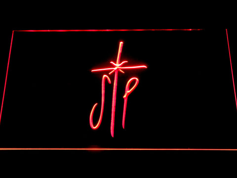 Image of Smashing Pumpkins Cross LED Neon Sign - Red - SafeSpecial