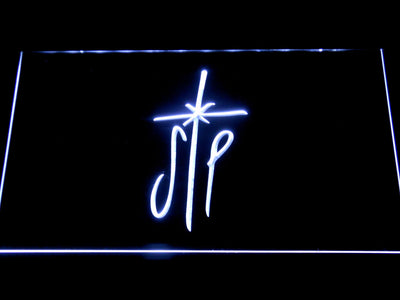 Smashing Pumpkins Cross LED Neon Sign - White - SafeSpecial