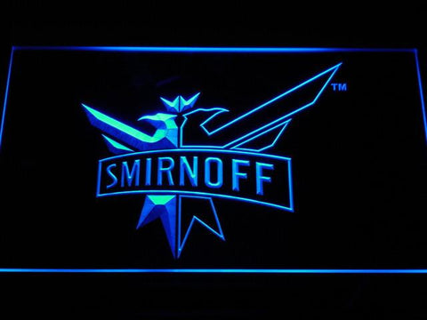 Image of Smirnoff LED Neon Sign - Blue - SafeSpecial