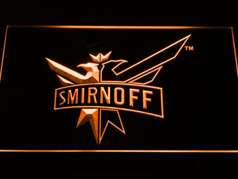 Image of Smirnoff LED Neon Sign - Orange - SafeSpecial