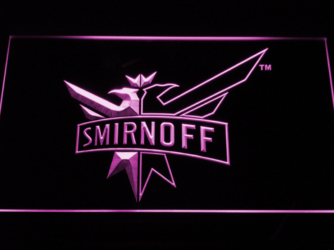 Image of Smirnoff LED Neon Sign - Purple - SafeSpecial
