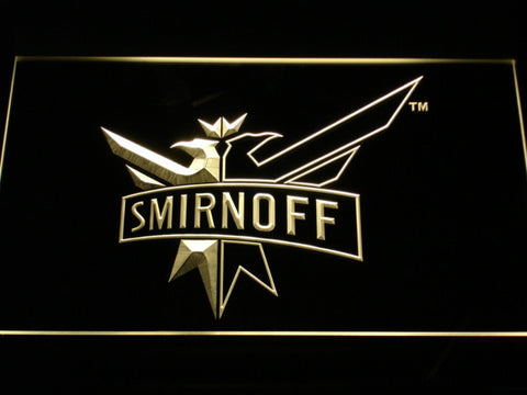 Image of Smirnoff LED Neon Sign - Yellow - SafeSpecial