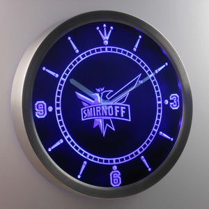 Smirnoff LED Neon Wall Clock - Blue - SafeSpecial